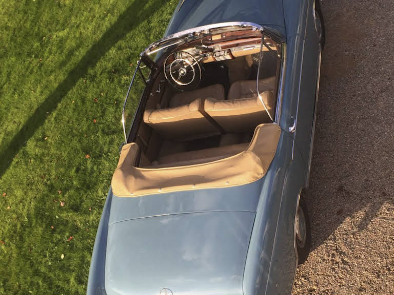 Mercedes Benz 220S Cabriolet Hire Floda